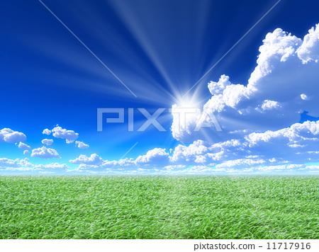 푸른 하늘과 초원 11717916