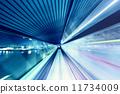 High speed train speed motion 11734009