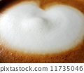 Warm coffee latte and heart image material 11735046