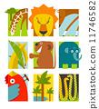 사자, 뱀, 동물 11746582