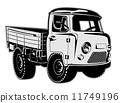 Cartoon delivery cargo pickup 11749196