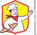 cook, baguette, baker 11766489