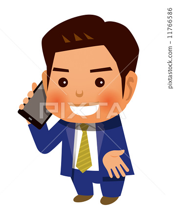 Businessman who speaks with a smartphone 11766586