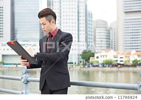 Businessman Working in the City 11766824