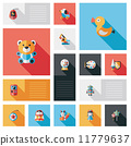kid toy flat ui background set 11779637