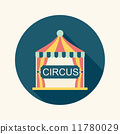 circus flat icon with long shadow 11780029