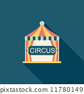 circus flat icon with long shadow 11780149