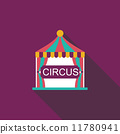 circus flat icon with long shadow 11780941