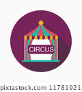 circus flat icon with long shadow 11781921