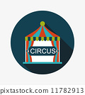 circus flat icon with long shadow 11782913
