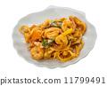 Fried noodles with shrimps 11799491
