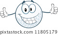 Smiling Golf Ball Cartoon Character Giving A Thumbs Up 11805179
