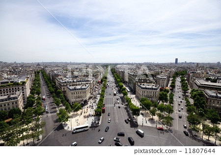 Scenery from the top of the Arc de Triomphe of Paris Tourist attractions 11807644