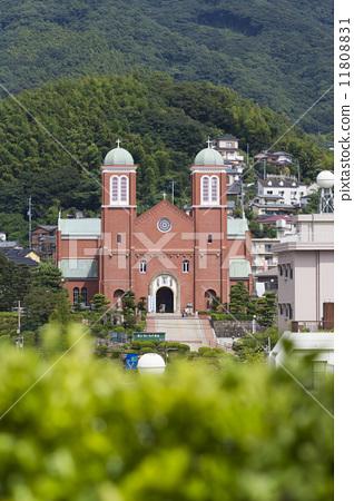 มหาวิหาร Urakami จากเนินเขาที่มองเห็นโบสถ์ 11808831