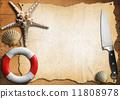 海鲜 海 菜单 11808978