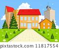 Vector cartoon modern school building 11817554