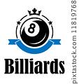 Billiards and pool emblem 11819768
