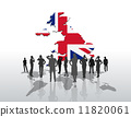 Business people standing under great britain graphic 11820061