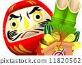新年的聖誕樹裝飾 達摩吉祥娃娃 菩提達摩 11820562