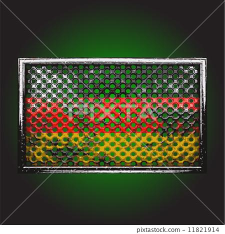 Vector flag on old metal 11821914