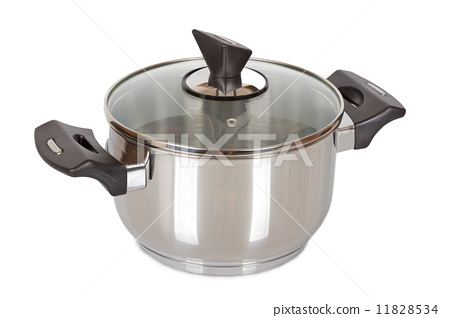 saucepan with glass lid isolated 11828534