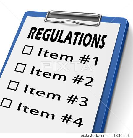 regulations clipboard 11830311