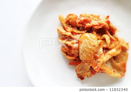 한국 요리 닭 껍질 김치 11832340