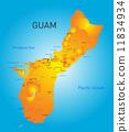 Guam map 11834934