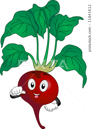 Red Beetroot Mascot 11841612