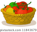 Basket with tomatoes 11843679