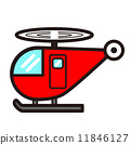 可愛直升機與流行(紅色) 11846127