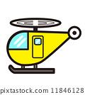 流行的可愛直升機(黃色) 11846128