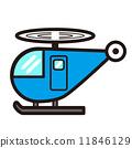 팝업 귀여운 헬기 (파란색) 11846129