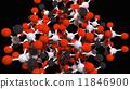 Molecule isolated on black 11846900