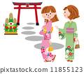 kimono, first, shrine 11855123