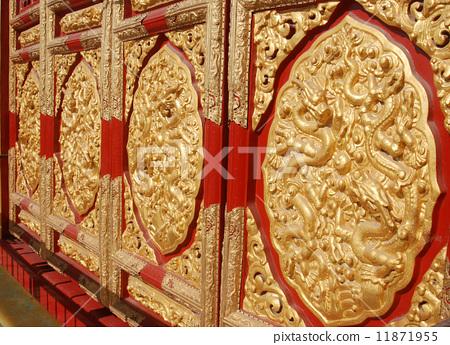 北京故宫里的门雕 11871955