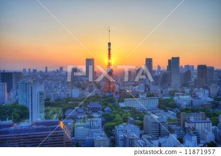 東京鐵塔和日落 11871957