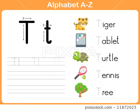 Alphabet Tracing Worksheet: Writing A-Z 11872025