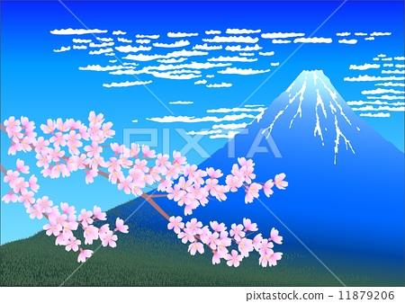 Sakura and Mt. Fuji 11879206