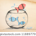 Fish Escaping from Fishbowl 11889770