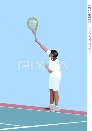Stock Illustration: Tennis serve