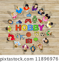 Group of Multiethnic Children with Hobby 11896976