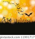 Halloween Flyer Bats 11901717