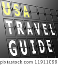 Airport display USA travel guide 11911099
