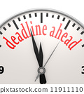 Deadline ahead clock 11911110