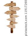 direction, wooden, arrow 11917260