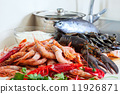 Fresh raw sea foods and fish 11926871