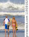 Surfers on Beach Having Fun in Summer. 11939102