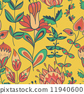 Seamless texture with flowers 11940600