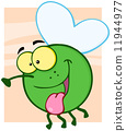 Happy Fly Cartoon Character 11944977